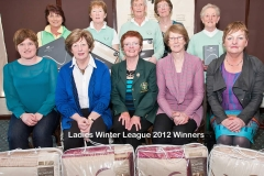 WWGC Winter League Ladies Winners and Runners-Up
